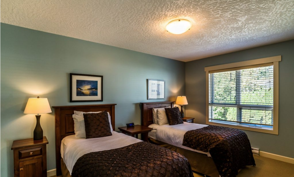 Room with twin beds at Sooke Harbour Resort, Rebooting the Muse Retreat